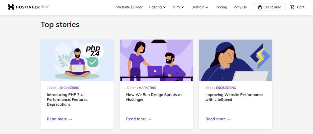 Hostinger content marketing example