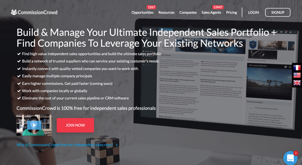 CommissionCrowd, a Website for Independent Sales Agents