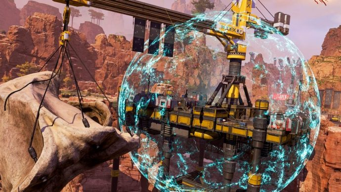 A Crypto Ultimate being used on the Kings Canyon map in Apex Legends.