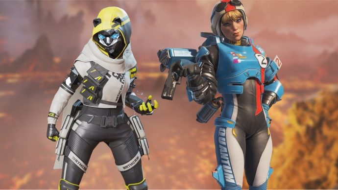 A screenshot of Wraith and Wattson standing next to one another in Apex Legends.