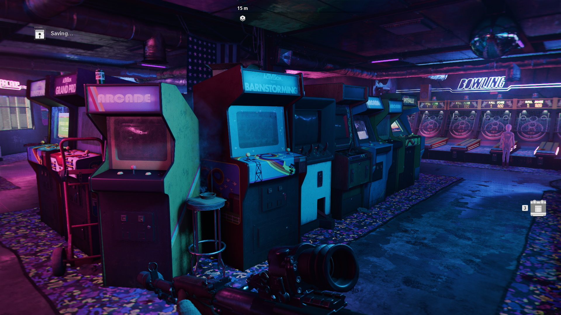 Arcade machines in Call of Duty - you'll need to pass this bit to get to Operation Chaos evidence.